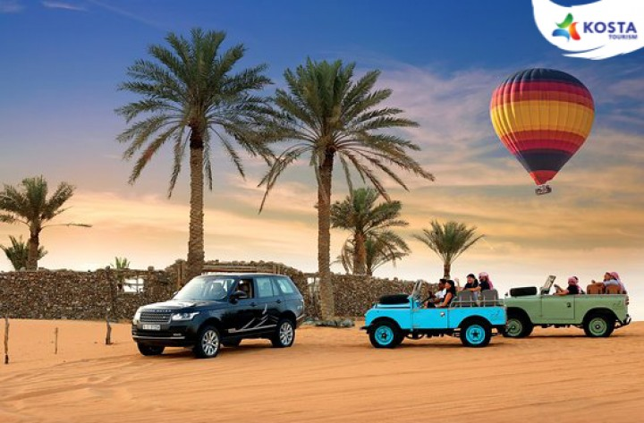 Hot Air Balloon, Breakfast and Land Rover Drive